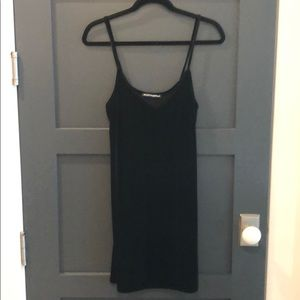 Brandy Melville Black Velvet Mini Slip Dress